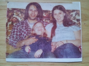 My Dad, me, Trish, 1977 Philly Photo belonging to Ilene Fey